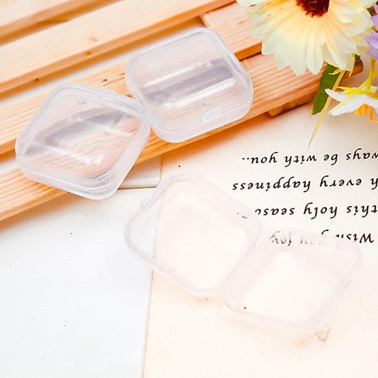 首飾 項鍊 迷你 耳塞 藥盒 手工藝 螺絲 戒指 透明 正方形 塑料小收納盒【G019】米菈生活館