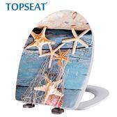 馬桶蓋 TOPSEAT馬桶蓋配件通用座便蓋板家用廁所板緩沖靜音u型老式坐便蓋   創想數位DF