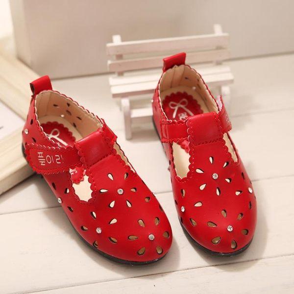 兒童女涼鞋新款正韓兒童單鞋時尚休閒鞋透氣鞋子【好康八折】