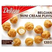 [需低溫宅配] 促銷到8月10日 C1197300 DEIZZA MINI CREAM PUFF DELIZZA冷凍迷你泡芙 120入共1.5公斤