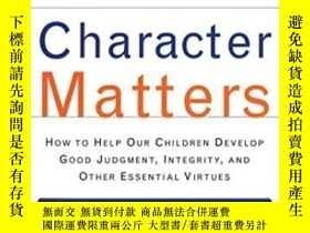 二手書博民逛書店Character罕見MattersY255562 Thomas Lickona Touchstone 出版