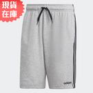【現貨在庫】ADIDAS ESSENTIALS 3-S 男裝 短褲 慢跑 訓練 排汗 透氣 灰【運動世界】DU7831