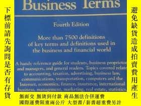 二手書博民逛書店Dictionary罕見of Bussiness Terms(商