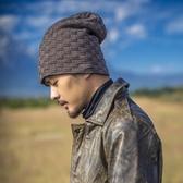 毛帽-純色加絨加厚保暖男針織帽6色73ug43[巴黎精品]