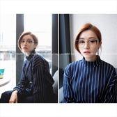 現貨-韓國ulzzang復古圓框金屬半框平光鏡眼鏡框架男女可配近視眼鏡 28