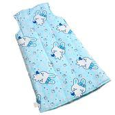 黑五好物節 嬰兒睡袋秋冬季純棉寶寶背心式防踢被兒童空調睡衣中大童無袖分腿
