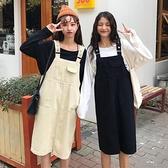 中長款牛仔背帶裙女裙子春秋韓版學生背心洋裝