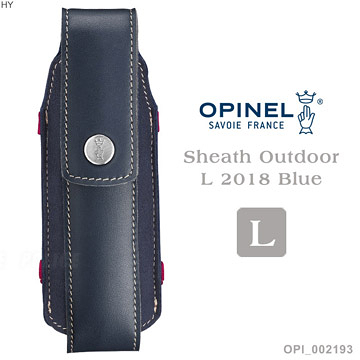 [好也戶外]OPINEL Sheath Outdoor L 2018 Blue L號戶外皮革套 NO.OPI002193