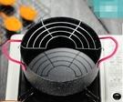 日式天婦羅油炸鍋家用迷你麥飯石不黏深煎鍋日本小炸鍋電磁爐燃氣 小明同學