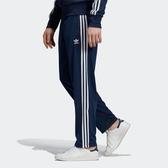 L- adidas Firebird TP 藍 白 男款 運動 休閒 長褲 三線 三葉 ED7010