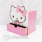 ﹝Kitty送禮單抽置物筒﹞正版 筆筒 收納盒 置物盒 木櫃 文具 凱蒂貓〖LifeTime一生流行館〗