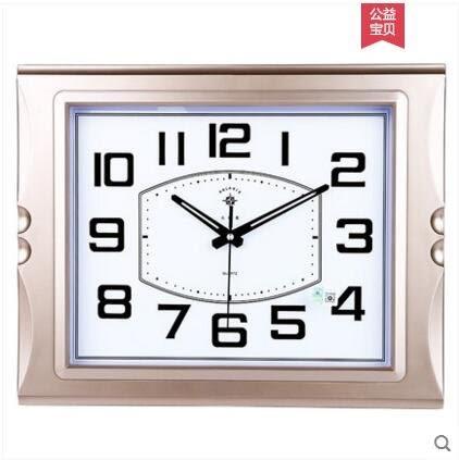 【銀色花邊】北極星靜音大掛鐘客廳萬年曆鐘