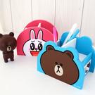 正版LINE 熊大 兔兔 小物抽屜盒  筆筒 置物櫃 置物盒 收納盒 雜物整理 居家收納