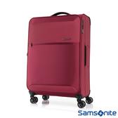 Samsonite新秀麗 26吋72H DLX 飛機輪TSA極輕量布面行李箱(紅)