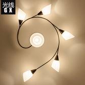 美式簡約現代吸頂燈客廳燈創意臥室燈玻璃餐廳燈北歐田園兒童燈具igo【蘇迪蔓】