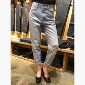Levis 女款 牛仔長褲 / Mom Jeans / 復古高腰寬鬆版 / 刷破
