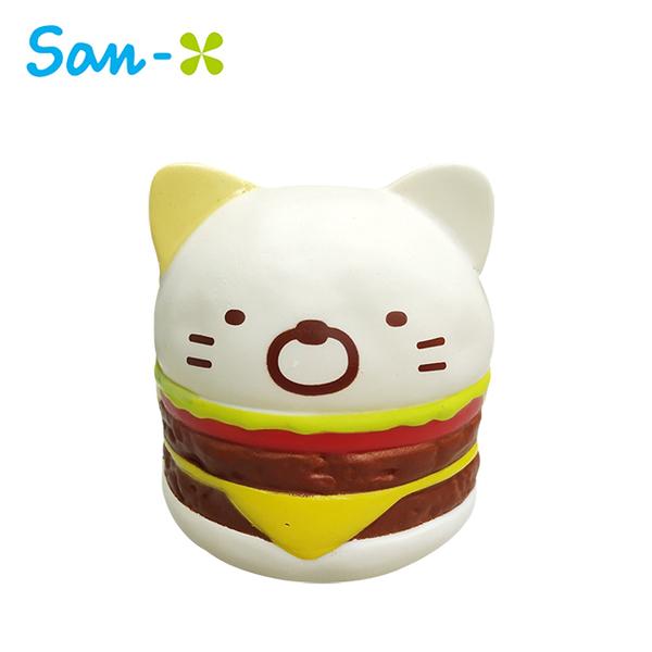小貓款【日本正版】角落生物 漢堡造型 捏捏樂 軟軟 Squishy 角落小夥伴 San-X 631565