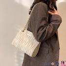熱賣鍊條包 包包女新款潮2021法國小眾設計高級感質感百搭時尚鍊條斜背包 coco
