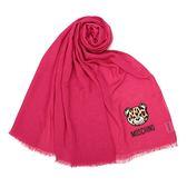 MOSCHINO 經典TOY小熊 100%莫代爾材質薄圍巾(桃紅色)911004-009