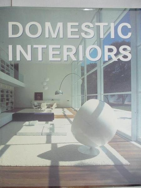 【書寶二手書T9/設計_DOE】Domestic Interiors