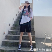 工裝短褲女夏寬鬆2020新款直筒休閒中褲高腰港味運動五分褲潮ins 怦然心動