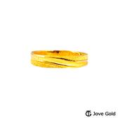 Jove Gold漾金飾 細水長流黃金女戒指