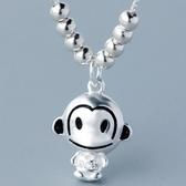 925純銀項鍊-小猴子造型時尚可愛百搭銀飾女墜飾73y76【巴黎精品】