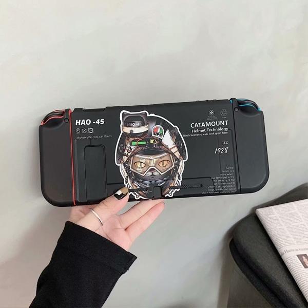 Switch保護殼 機械貓 Switch彩繪保護殼 Switch配件 Switch Lite 配件