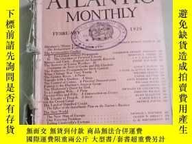 二手書博民逛書店The罕見Atlantic Monthly 大西洋月刊1926年