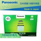 【 Panasonic 藍電池 】國際牌 105D31L R  Lexus LS LX 460 470 哈家人