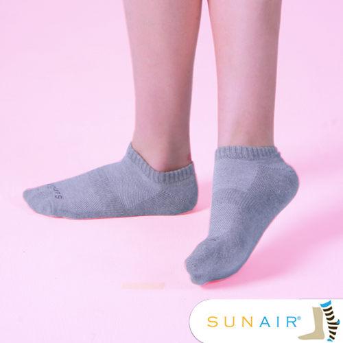 sunair 滅菌除臭襪子-標準型運動船襪M(21~24.5) (灰)  /SA2002