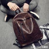 潮流新款時尚青年戶外背包旅行雙肩行李包 韓版新款男包背包書包 LOLITA