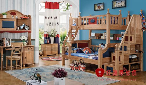 [ 紅蘋果傢俱 ]LM-T06 湯米迪克系列 雙層床 上下床 床組 單人上下舖 數千坪展示