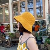 遮陽帽經典純色基礎款漁夫帽男女春夏季防曬遮陽帽休閒百搭日系盆帽韓版