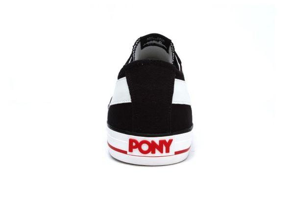 PONY Shooter系列黑白休閒帆布鞋 女款-NO.91W1SH02BK