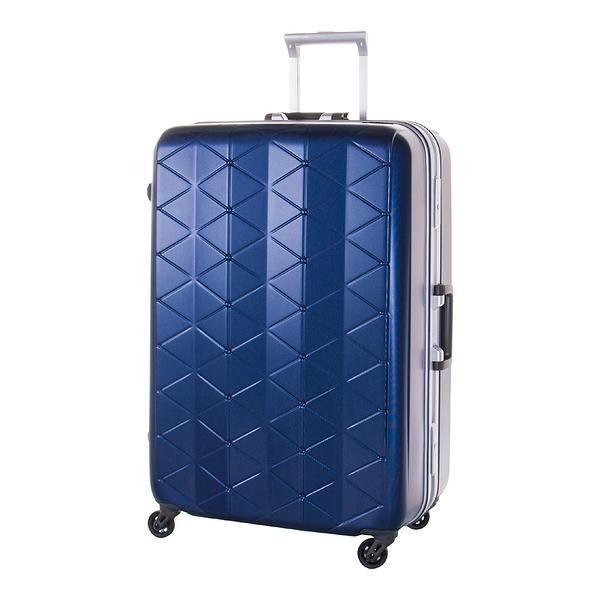 SUNCO 25吋 極輕鎂合金框 霧面防刮設計 旅行箱/行李箱-海軍藍