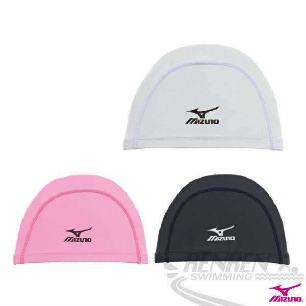 MIZUNO美津濃 2WAY 矽膠泳帽(粉紅)