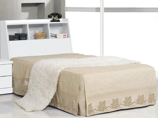 床架 床頭箱.床頭片 CV-177-7 青少年全白3.5尺書架型床頭 (不含床底)【大眾家居舘】
