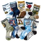 [韓風童品](10雙/組)棉質恐龍圖案中大男童襪 兒童百搭休閑襪 中童襪子  兒童中筒襪子