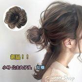 韓式迷你微捲蓬鬆公主半丸子頭超小號發圈包橡皮筋花苞道姑頭假發color shop