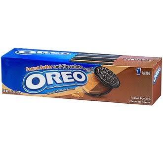 OREO 奧利奧 花生醬&巧克力夾心餅乾 137g