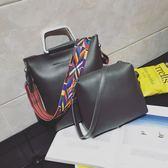 大包包新品正韓女包子母包休閒單肩側背包斜背包包手提包 聖誕交換禮物