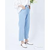 CANTWO牛仔鬆緊寬版褲-淺藍色