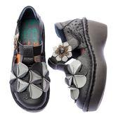 MODO婀娜多姿/雙層止滑荷蘭底-THE ONE 手工氣墊鞋 (全牛皮)-C10407 黑