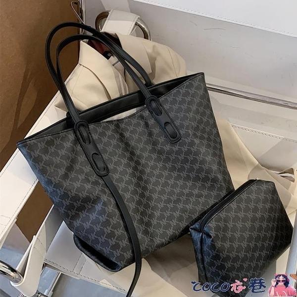 熱賣托特包 高級感包包女大容量2021新款潮時尚手提側背包百搭通勤托特子母包 coco