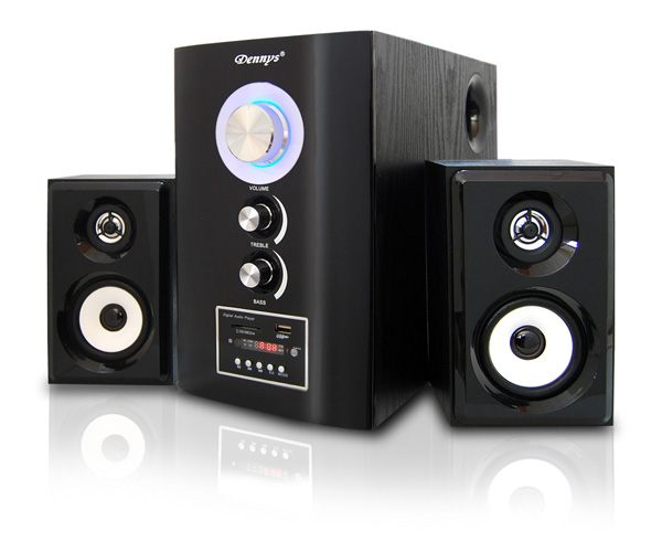 ^聖家^Dennys 2.1木質USB/SD音響喇叭遙控版 T-700S【 全館刷卡分期+免運費】