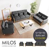 沙發組 1+2+3人 布沙發 Milos 米洛斯北歐質感1+2+3人沙發/三色【H&D DESIGN 】