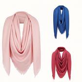 ★2019新款*Fendi FF logo 暗花Logo絲及喀什米爾混紡圍巾 140 x 140 cm 披肩圍巾 粉色 紅色 藍色