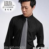 更改商標中,庫存售完為止【大尺碼-LT-0911-3】 基本款 經典黑 長袖男襯衫