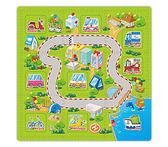 雙語學習教具 遊戲地墊 兒童幼兒寶寶爬行墊 互動發聲玩具地墊 交通工具《SV7476》HappyLife